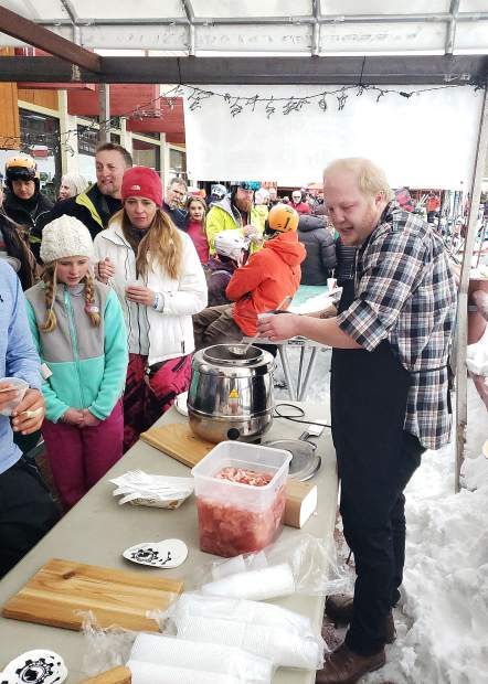 Another of the culinary selections for the Taste of Sunlight, which was part of the annual Ski Spree celebration at Sunlight Mountain Resort over the weekend.