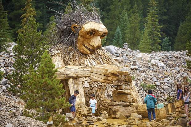 Troll sculpture back to Breckenridge this Spring