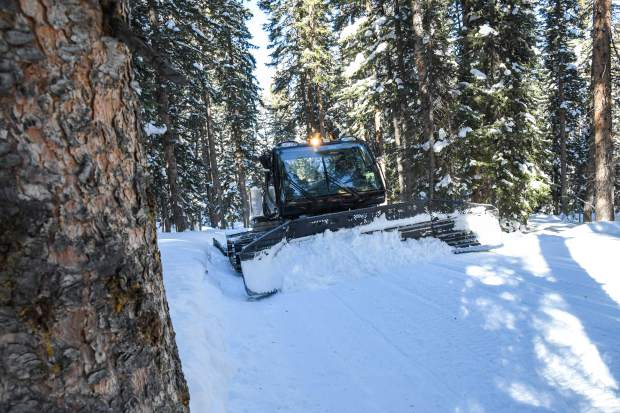 The snowcat used by the Mt. Sopris Rec Riders to groom the Sunlight to Powderhorn snowmobile trail.