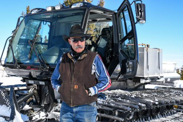 Steve Burns often grooms the trails two to five times a week during good snow years.