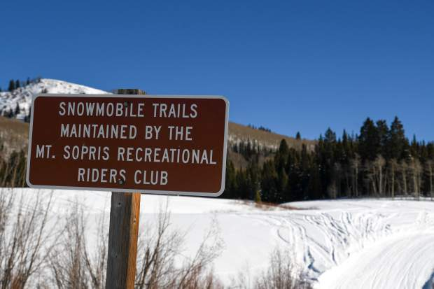 A majority of the people who make up the Mt. Sopris Rec Riders club help maintain the trail on a volunteer basis.