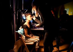 Behind the curtain at Green is the New Black Fashion Extravaganza