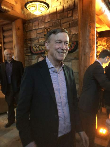 In Snowmass, Hickenlooper heralds EcoFlight, calls on other nonprofits