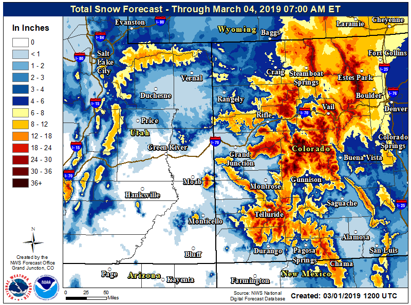 Aspen area in winter storm warning through Sunday afternoon