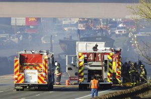 4 dead in fiery I-70 pileup near Denver; trucker arrested