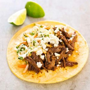 Short ribs in beer and cider vinegar make great tacos
