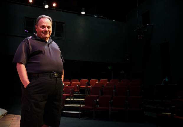 Owen O'Farrell inside the Lon Winston Theater and the Thunder River Theater Company in Carbondale.