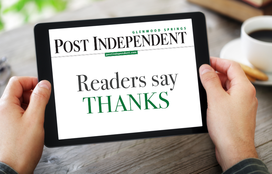 Readers Say Thanks