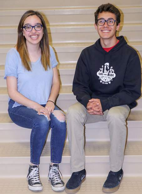 Coal Ridge High School students Paola Ortiz, left, and Stephen Jones, Boettcher and Daniels scholarship winners, respectively.