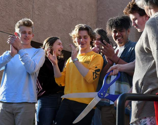 Valley teens cut the ribbon celebrating the the grand opening of the new YouthZone location in downtown Glenwood Springs at the ceremony on Thursday evening.