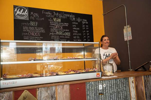 Yanina Dobarro initially planned to provide her empanadas wholesale only to retail outlets, but she found a space at 31 Duroux Lane, suite G, in Basalt that lends itself to direct service with a display counter and a few tables.