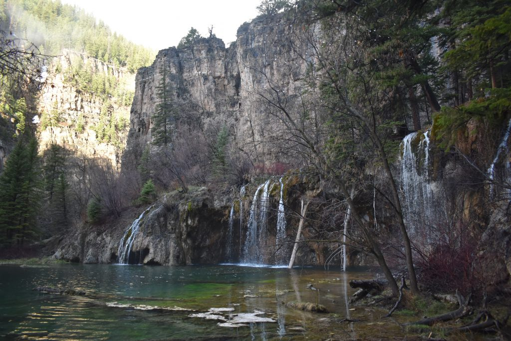 The waterfall at Hanging Lake and the steep hike to view it has become immensely popular in recent years.