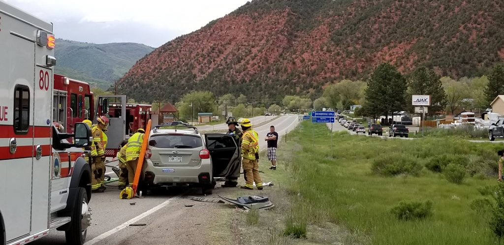 Highway 82 crash near CMC turnoff sends 5 to hospital