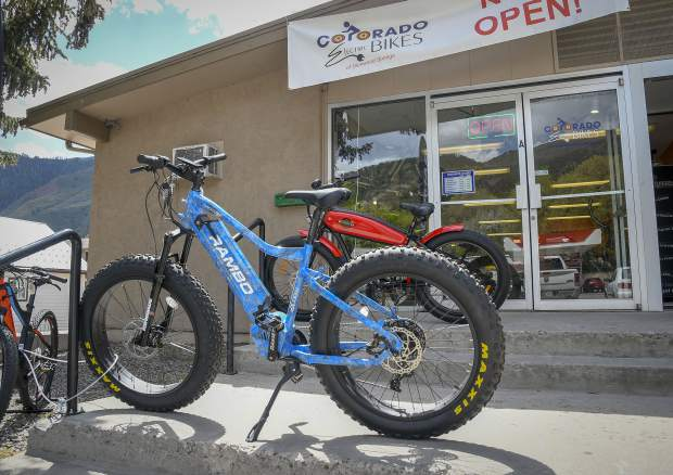 One of Iverson's top sellers is the Rambo Electric fat tire mountain bike.