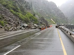 Rock slide closes Glenwood Canyon; snowstorm causes I-70 closures, hazardous driving conditions in high country