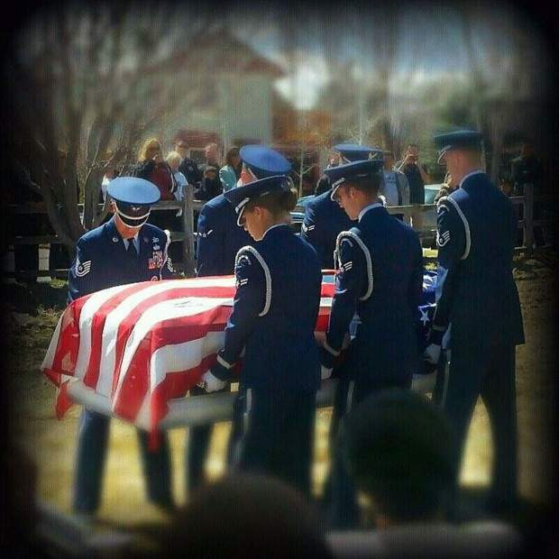 Military funeral in Carbondale for Nino Santiago Sr.after his suicide death in March 2011.