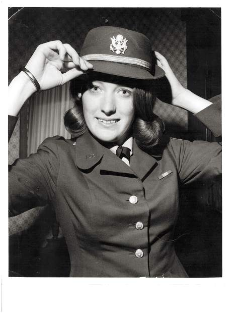 Pat Hammon during her military service days.