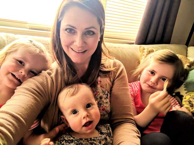 Courtney Pollard and her three daughters, 2-year-old is Carter, 6-month-old Landry and 5-year-old Harper.