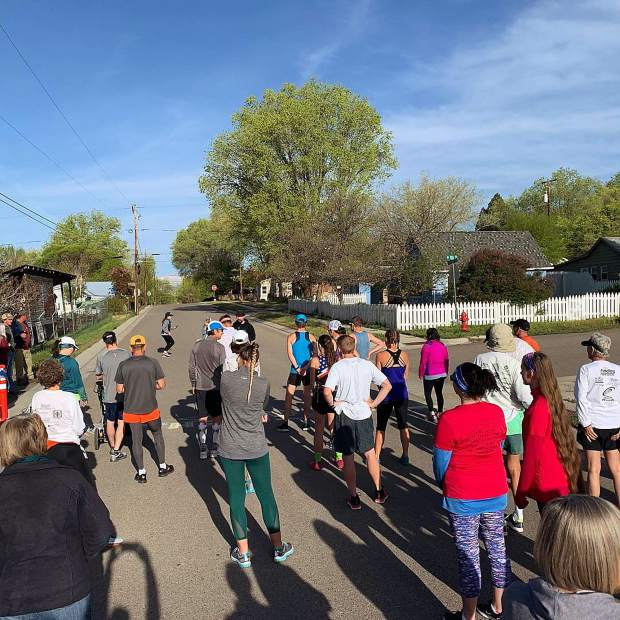 @outsidener - A springtime tour of Silt, courtesy of the Silt Historical Park 5k Hobble. #postsnaps