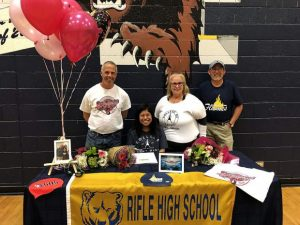 Rifle's Cecilia Garcia signs with College of Saint Mary's