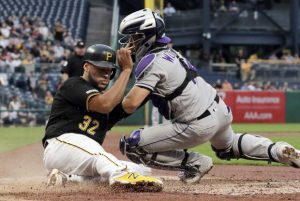 Bell's splash HR not enough; Rockies cruise past Pirates 9-3