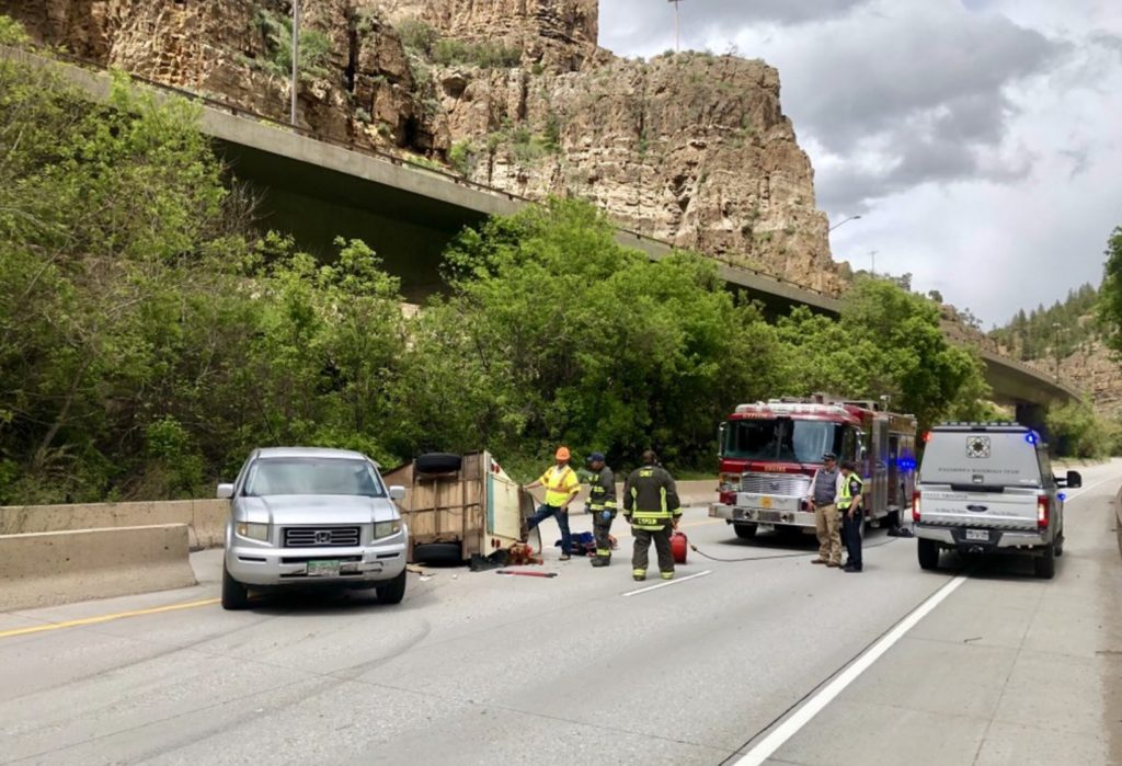 1 70 Reopened After Wednesday Wreck In Glenwood Canyon