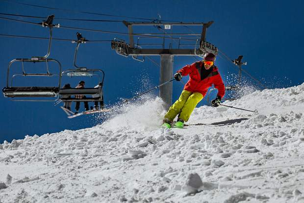 A month after closing day, the party returned to Aspen Mountain on Saturday