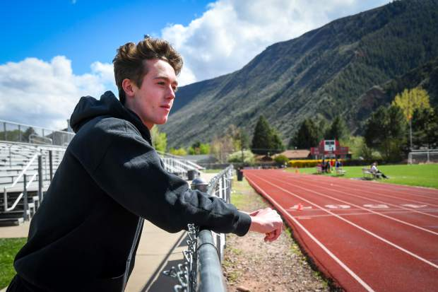 Senior Gavin Olson hopes to become the first Glenwood Springs male track and field athlete to qualify for the state track meet in the 100m, 200m, and 400m dashes.