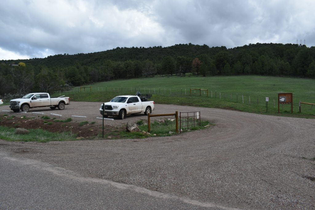 The BLM's small Sutey Ranch Trailhead lot on CR 112 was completed in 2017.