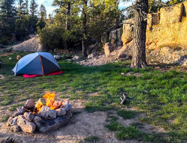 The best camping spots are often found and made in the seclusion of isolation far from the happenings of the real world.