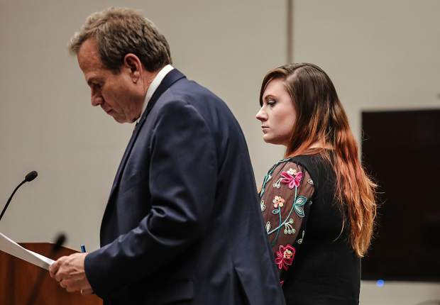 Allison Marcus, one of two defendants for the Lake Christine Fire last summer, and her attorney Stan Garnett were in front of Eagle County District Judge Paul Dunkelman at her plea hearing Wednesday in Eagle. Dunkelman conditionally accepted the plea sentences, but a later date for sentencing will take place in July 1.