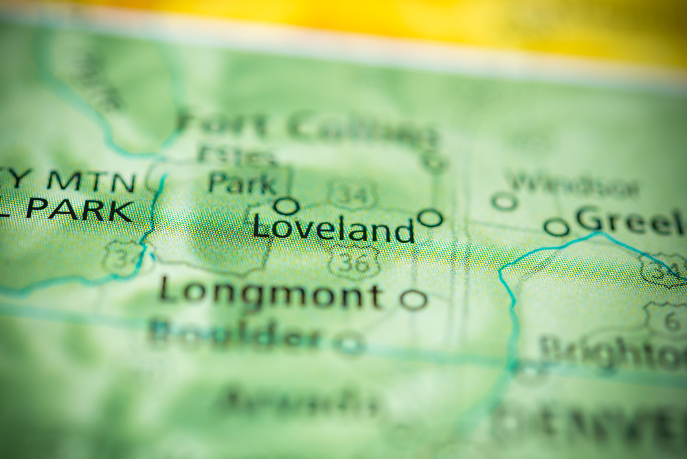 Loveland colorado on the map
