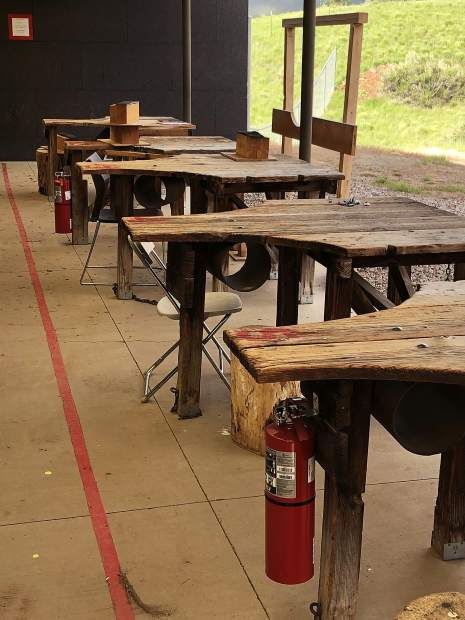 Additional fire extinguishers have been installed at the rifle range shelter in Basalt since the Lake Christine Fire in July.