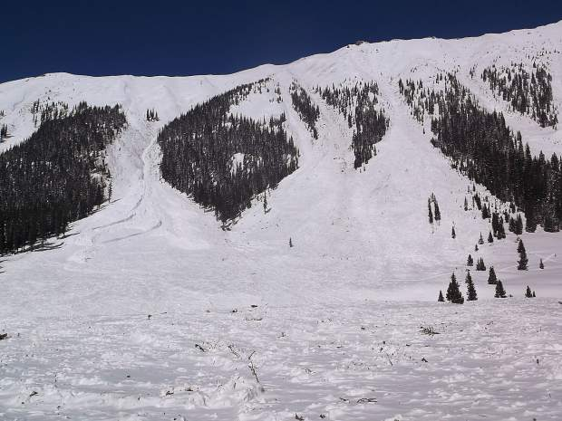 The Schrybers said they could see eight avalanches from their home in Grizzly Camp, about 17 miles southeast of Aspen. The slides were part of the historic avalanche cycle triggered after nearly six feet of snow fell the first week of March.