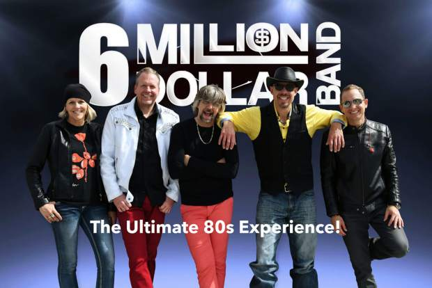The 6 Million Dollar Band (6MDB to their fans) delivers high-energy '80s synth pop and new wave dance music using a combination of new and old technology. Four stage synthesizers complement the guitar, drum and bass rhythm section, producing the classic sounds '80s fans love to hear. Artists such as Tears For Fears, Duran Duran, Simple Minds, Madonna, Talking Heads and Depeche mode are faithfully recreated and performed with the same energy and intensity as the original acts.