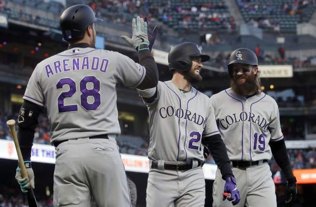 Dahl's 2-run homer carries Rockies past Giants 2-0
