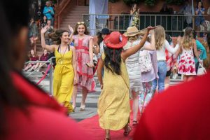 Miss Strawberry Days contestants walk the red carpet