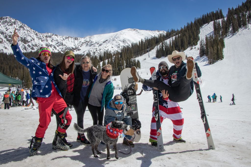 Arapahoe Basin Ski Area fourth of july skiing