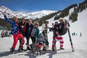 Fourth of July skiing in Colorado at Arapahoe Basin