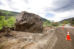 Colorado will reroute highway around 8.5M pound boulder that fell