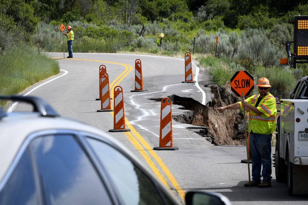 CDOT begins emergency repair work on damaged Hwy 325 near Rifle Gap Reservoir