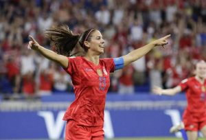 Morgan scores and Naeher saves in 2-1 U.S. victory over England