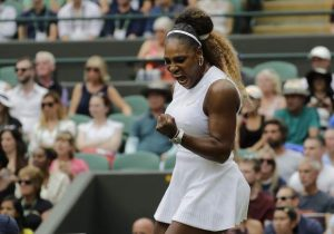 Williams warms up for doubles with singles win at Wimbledon