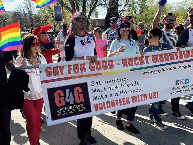 Gay for Good was one of the organizers and had a big presence in the Carbondale Pride Parade that took place as part of the May First Friday events.