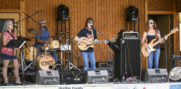 The Scones out of Paonia entertain the crowd at Stoney Ridge Park during Saturday's Silt Heydays.