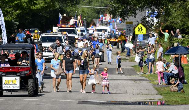 Sunshine lights up the annual Silt Heydays parade makes its way down Grand Avenue Saturday morning.