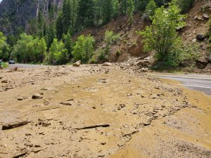 Highway 133 reopened after mudslide south of Carbondale near Penny Hot Springs
