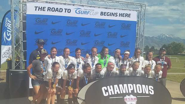 Roaring Fork Select girls 16U soccer team wins the Utah Surf Invitational