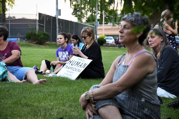 Glenwood Springs-area immigrant rights advocates gather at Sayre Park for the