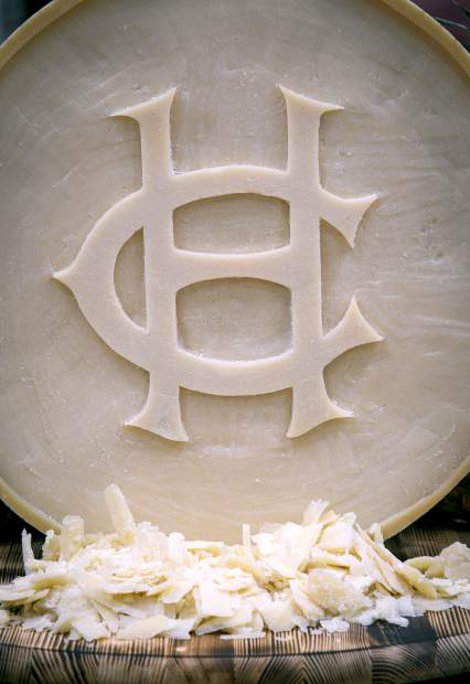 The Hotel Colorado pulled out all the stops Thursday with details including the hotel logo carved in a large wheel of cheese.
